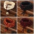 Pulseras 108 granos de 8mm Natural Budista Buda De Madera de Sándalo Prayer Bead Mala Unisex Hombres pulseras y brazaletes de la joyería bijoux