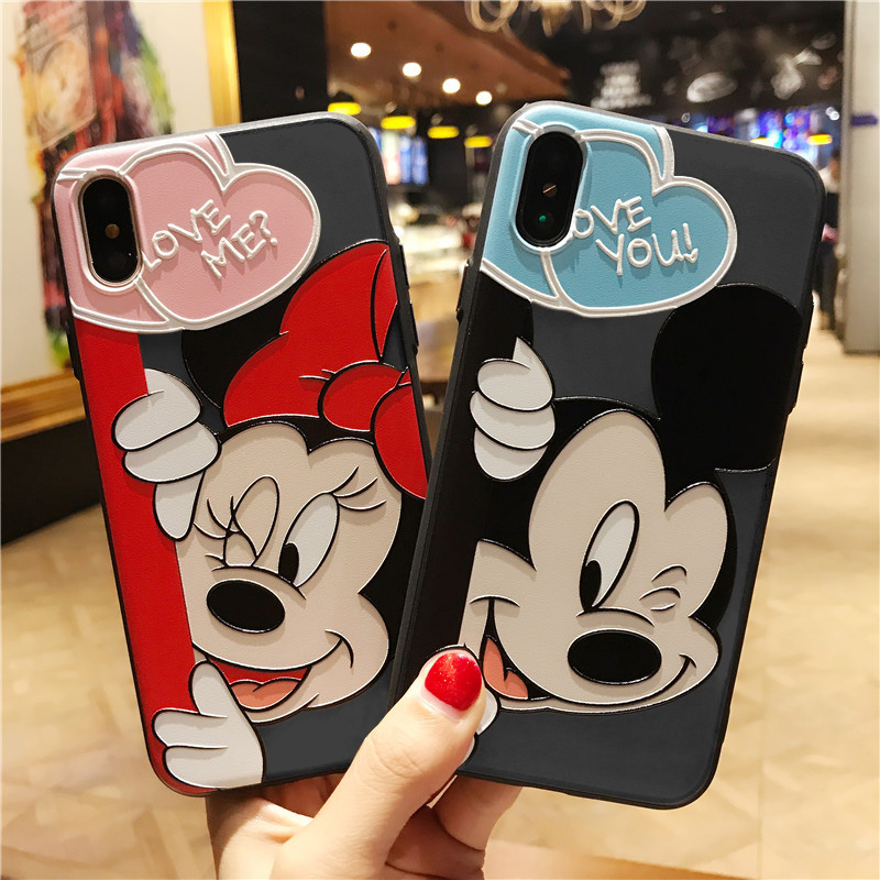 3D Emboss Relief Cartoon Coque Print Case For iPhone XR 5 5S SE X 6 6S 7 8 Plus For iPhone 11 Pro XS Max Case 10 TPU Coque Cover