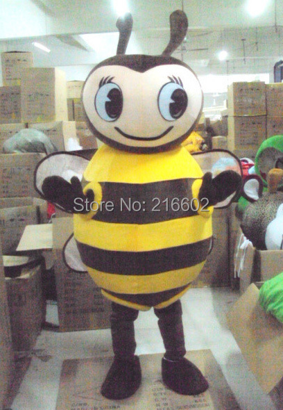cosplay costume BEE mascot costume for adults christmas Halloween Outfit Fancy Dress Suit Free Shipping