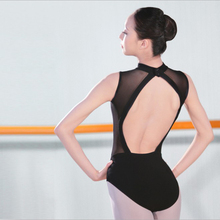 Professional Black Straps Ballet Leotard Women Mesh Backless Ballet Clothes Girls Swan Lake Ballet Costumes