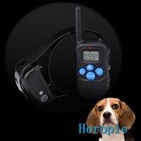 Heropie Opladen waterdichte afstandsbediening hond stop elektrische schok kleine medium grote hond LCD Elektrische Hond Opleiding Kraag