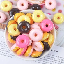 10Pcs Slime Charms Simulated Donut Resin Plasticine Accessories Beads Making Supplies DIY Scrapbooking Crafts