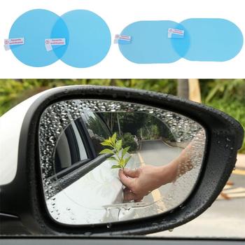 2 sztuk zestaw Anti Fog okno samochodu przezroczysta folia naklejka na samochodowe lusterko wsteczne folia ochronna wodoodporna przeciwmgielna pyłoszczelna folia ochronna tanie i dobre opinie Vecligt CN (pochodzenie) Inne Inne naklejki 3d 9 5cm Waterproof film for rearview mirror PET Nano Coating 13 5cm W opakowaniu