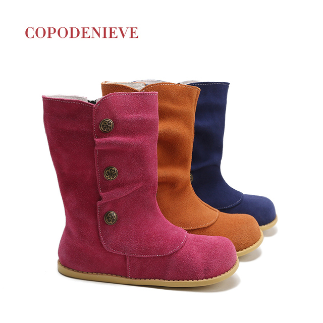 COPODENIEVE Children shoes spring autumn Toddler Little Boys loafers shoes kids Slip on leather kids casual shoesThe girl