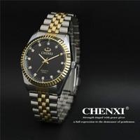 2016 Fashion Luxury Brand CHENXI Watches Men Women Lover Gold Business Stainless Steel Quartz Watch Waterproof