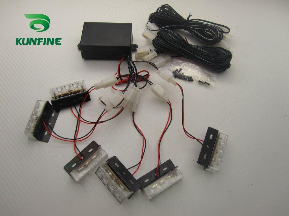 6 in 1 Car LED strobe light car warning light car flashlight led light bar high quality Traffic Advisors light KF-L3023