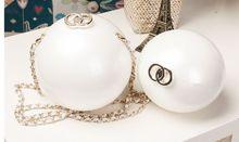 2016 Women Fashion Purse Evening font b Clutch b font Pearl Chain Bags Small Handbags Wallet