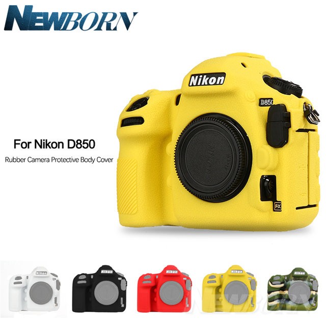 US $25 98 20% OFF|NEW Soft Silicone Rubber D850 Camera Protective Body Case  Skin For Nikon D850 DSLR Camera Bag protector Cover-in Camera/Video Bags