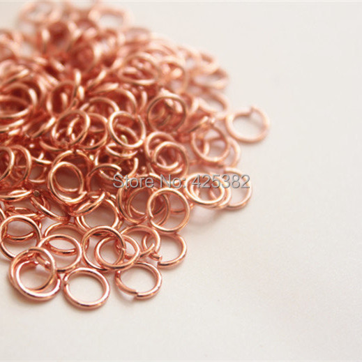100pcs 5mm Rose Gold Open Jump Rings Wire Dia 07mm Jewelry