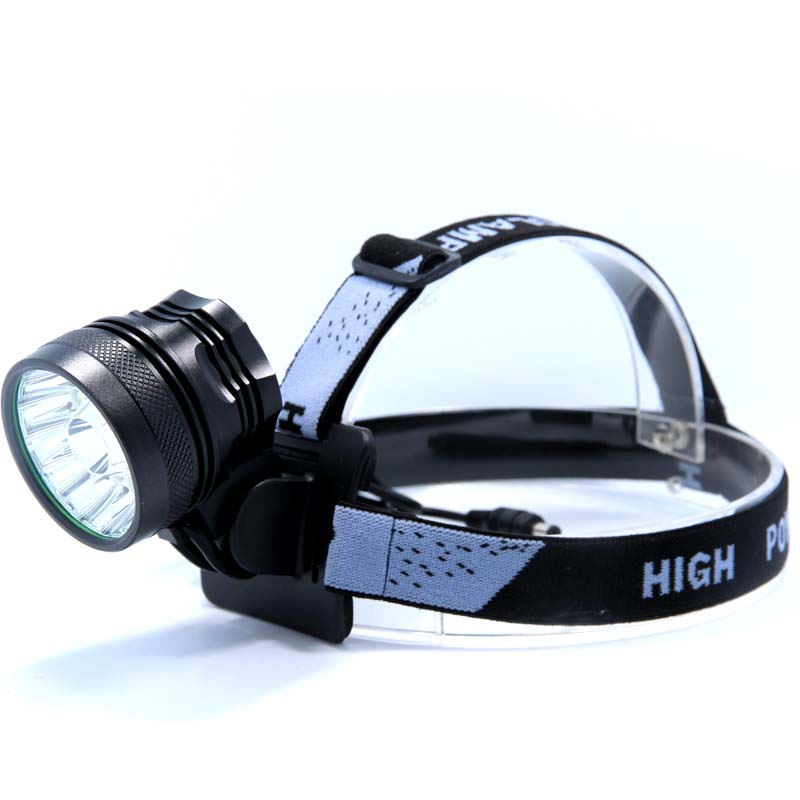 Купить с кэшбэком 15T6 Powerful LED Headlamp Headlight light lamps 18000 Lumens 15 x XM-L T6  with 8.4V battery Pack charger