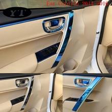 Авто внутренняя дверная ручка отделка литье для Toyota Corolla-, нержавеющая сталь, 8 шт., автомобильные аксессуары