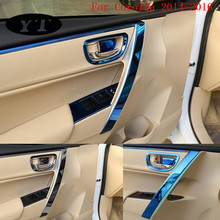 цена на Auto inner door handle trim moulding for Toyota Corolla 2014-2016,stainless steel ,8pcs,free shipping