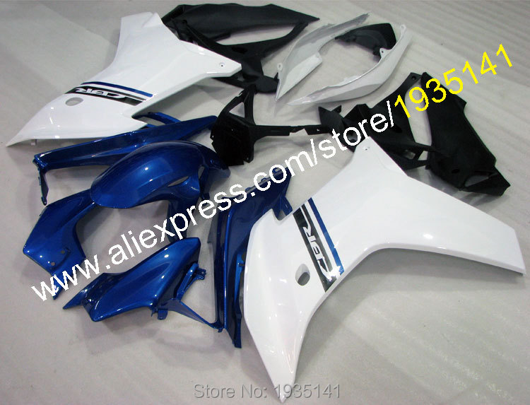 Hot Sales,For Honda CBR600F 2011 2012 2013 CBR600 F CBR 600F 11 12 13 Blue White ABS Motorcycle Fairing Kit (Injection molding) for honda cbr600rr 2007 2008 2009 2010 2011 2012 motorbike seat cover cbr 600 rr motorcycle red fairing rear sear cowl cover