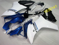 Hot Sales,For Honda CBR600F 2011 2012 2013 CBR600 F CBR 600F 11 12 13 Blue White ABS Motorcycle Fairing Kit (Injection molding)