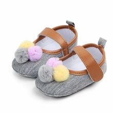 New Girls Cute Ball Baby Shoes Classic Canvas Cotton Soft So