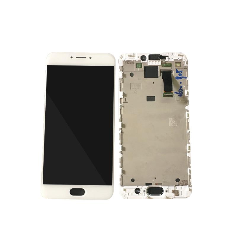 Pour MEIZU MX 6 blanc/noir LCD + écran tactile avec cadre assemblage outils gratuits livraison gratuite écran autocollant gratuit