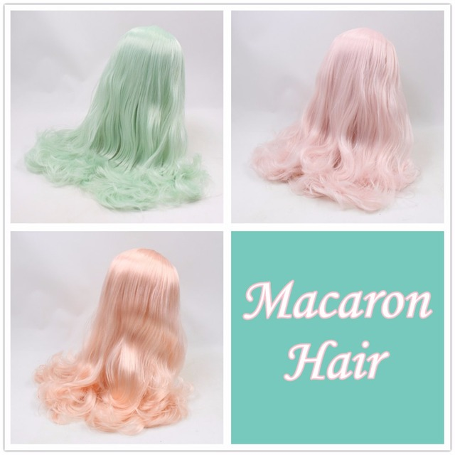 Neo Blythe Doll Macaron Color Hair Wigs