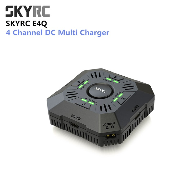 SKYRC E4Q Battery Charger Fast Charge 4 Channel DC Multi Charger 5A 2 - 4S LiPo For DJI Battery Xiaomi Drone