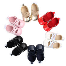 2018 Brand New Toddler Infant Newborn Baby Girls Sneakers Bow Non-slip Crib Shoes Little Tail Soft Sole Party Prewalkers 0-18M(China)