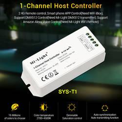 Milight 1-канал светодио дный хост-контроллер усилителя мощности сигнала DC24V Wi-Fi беспроводной/2,4 г удаленные приложения для смартфона