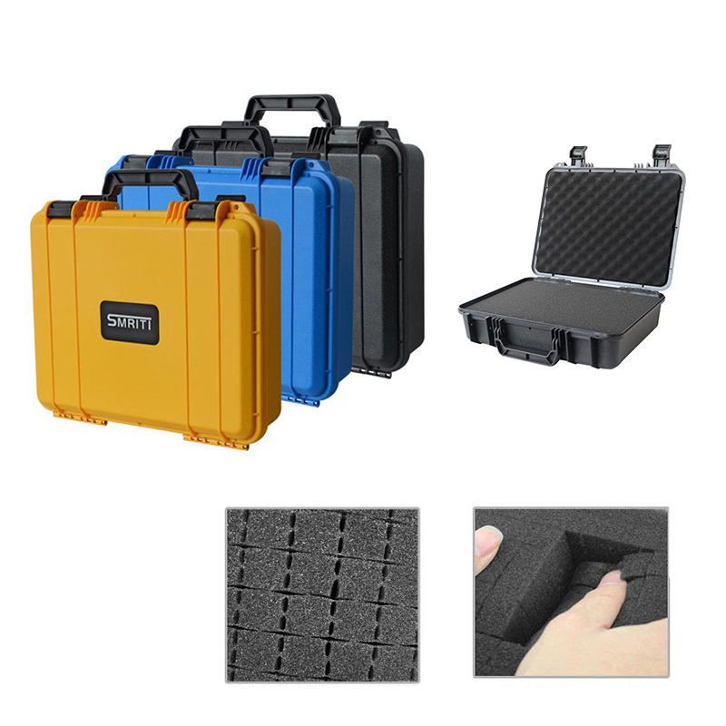 370 285 105mm Protective Safety Toolbox Impact Resistant Sealed Case Equipment Suitcase Shockproof with Sponge with