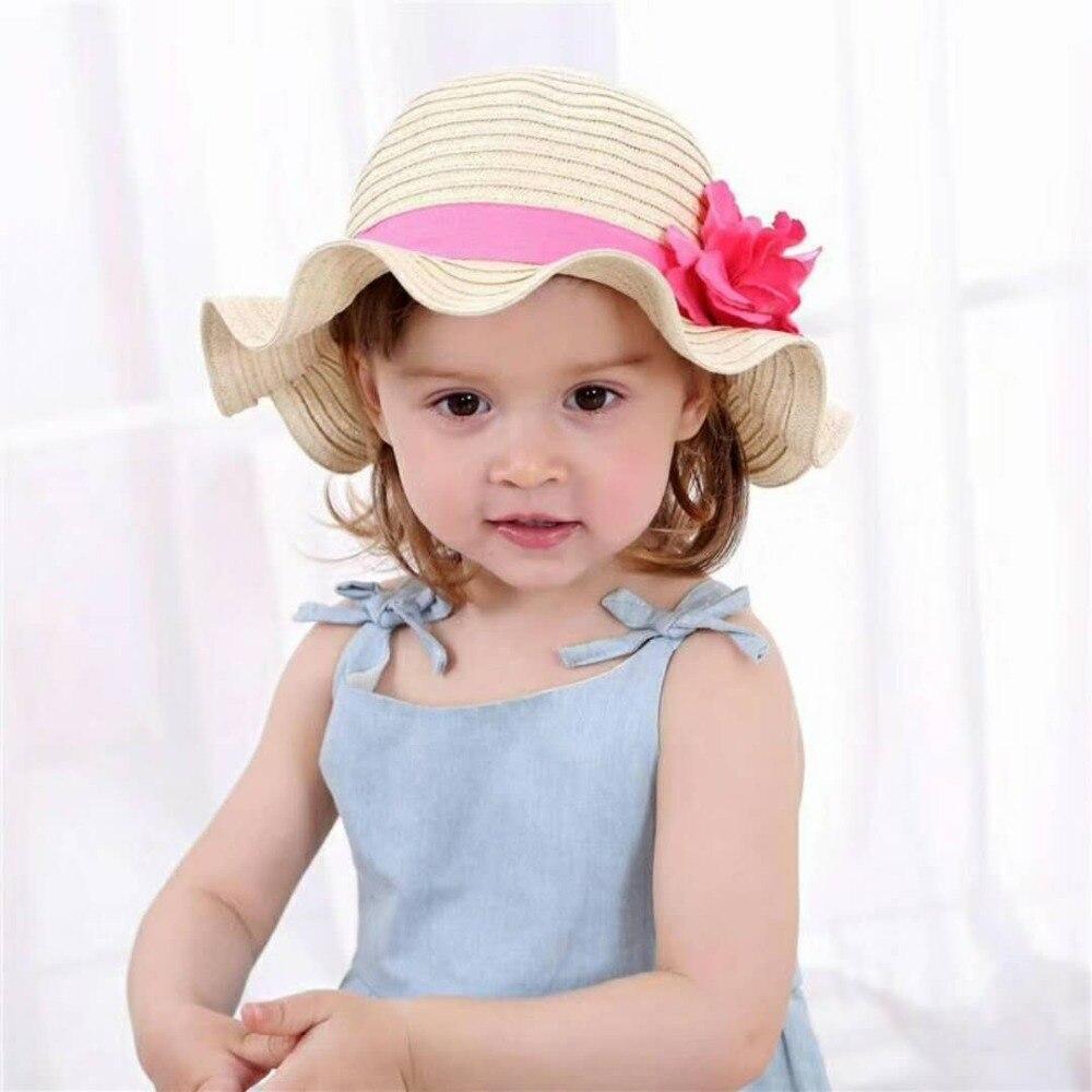 الأطفال في قبعة الشمس الطفل girs الزهور زهرة الاطفال القبعات دلو قبعة الربيع الصيف اليومية أحمر أحدث أزياء الصيف قبعة