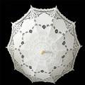 Algodão bordado Lace Parasol Umbrella Sun Estilo Vintage Feitos À Mão Chuvas Nupcial Do Casamento Do Partido Decoração Suprimentos