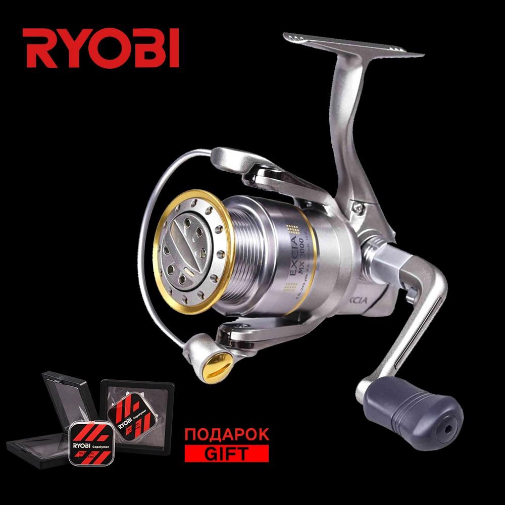 RYOBI EXCIA MX Reel 1000/2000/3000/4000 Original Saltwater Wheel 8+1 BB 4.9:1 Ratio Bass Trout Pike Carp Fishing Spining Reels ryobi appaluse 2000