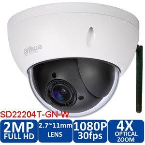 Dahua оригинальный DH-SD22204T-GN-W 2MP HD WI-FI водонепроницаемая камера 360 градусов вращающийся сетевой безопасности камеры SD22204T-GN-W