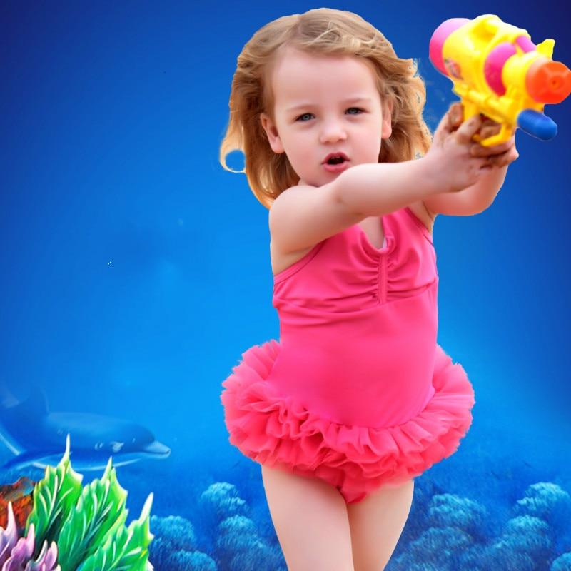 Kids Swimwear Skirt Baby Girl Swimsuit One Piece Monokini -6840