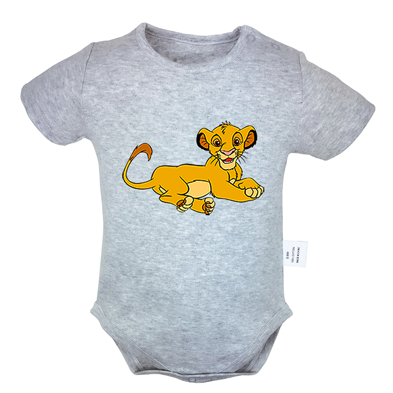 The Lion King Simba Design 6-24M Newborn Baby Girl Boys Clothes Pinting Short Sleeve Romper Jumpsuit Outfits 100% Cotton Sets