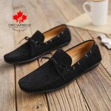 Męskie obuwie 2020 buty do jazdy łodzi męskie mokasyny marki wypoczynek męskie buty jesień koronka wygodne zamszowe mokasyny