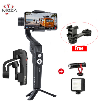 Accessories Moza Mini S Foldable 3 Axis Gimbal Pocket Sized Stabilizer for Andriod iPhone GoPro Vlogging 2-in