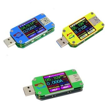 UM34/UM34C UM24/UM24C UM25/UM25C Color LCD Display usb voltage tester current meter Voltmeter battery charge measure 30%off