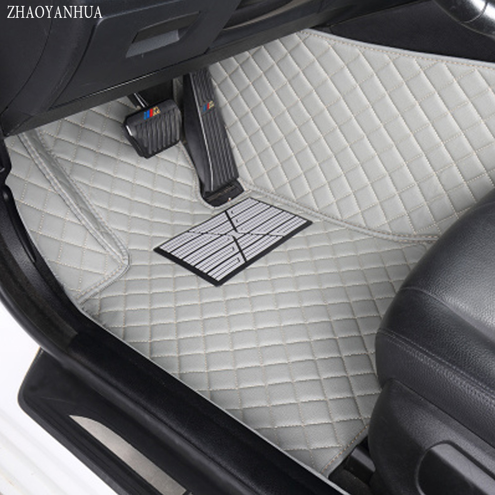 ZHAOYANHUA car floor mats for BMW Z4 E85 E89 Leather heavy duty 5D car styling all weather carpet liners(2002-now custom fit car floor mats for toyota yaris 3d special all weather heavy duty car styling leather carpet floor liners 2005 now