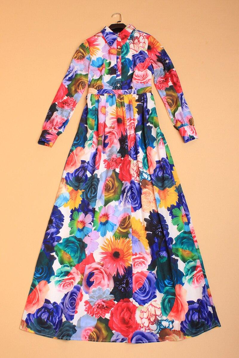 Vibrant Colors Long Sleeve Casual Dresses