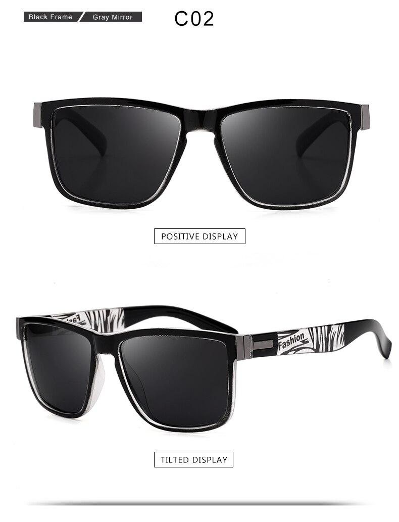 ASUOP 2019 New Men's Polarized Sunglasses UV400 Fashion Square Ladies'Glasses Classic Retro Brand Design Driving Sunglasses (3)
