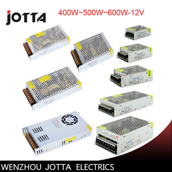 FreeShipping 12V 400W~500W~600W Switching power supply 12v power supply 12v power supply led elight ipl handle low noise vibration energy power source supply capacity 400w