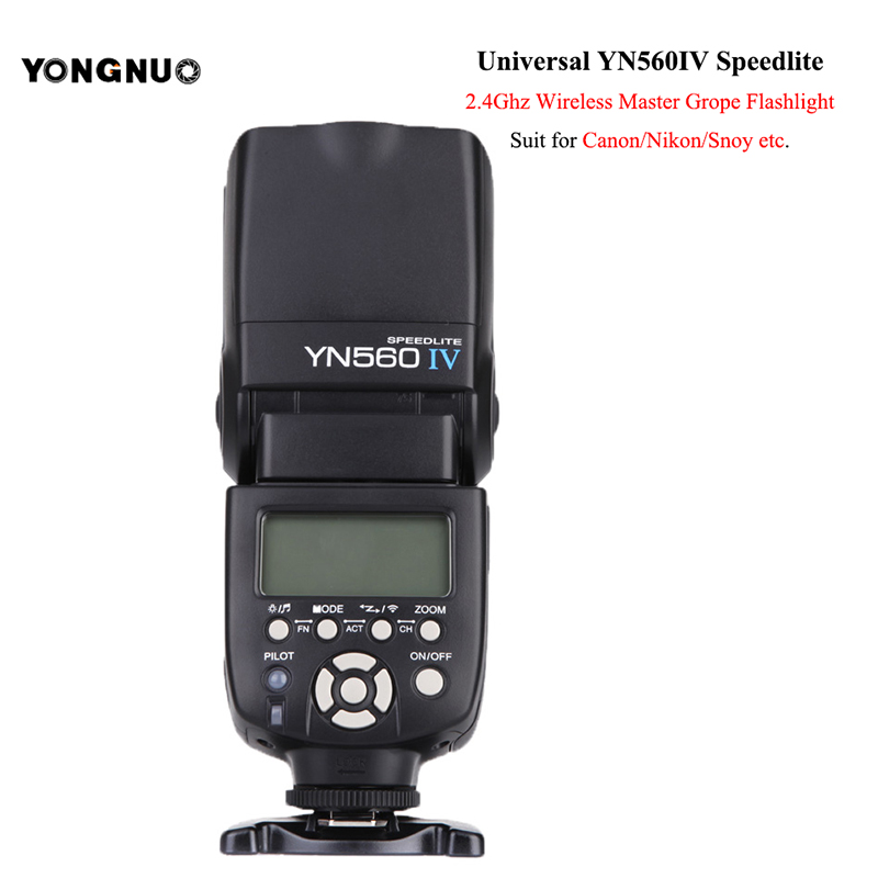 Nouveau Yongnuo YN560 IV yn560iv Speedlite 2.4G sans fil flash lampe LCD lampe de poche pour Canon Nikon Panasonic wifi caméra accessoires