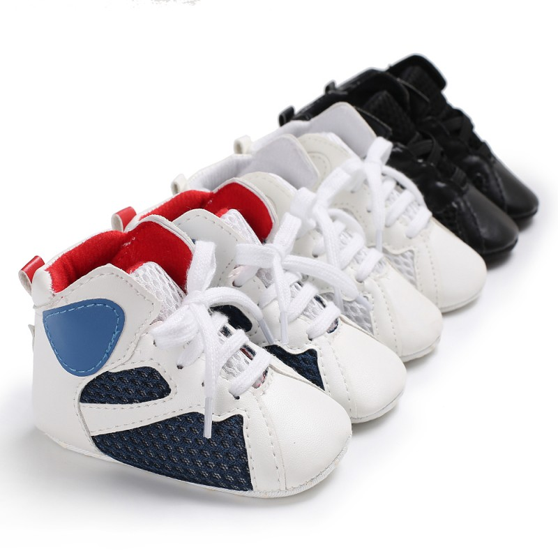 Baby boys girls moccasins shoes soft sole infant sneakers Newborn first walker boot Basketball shoes 0-18M
