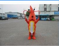 Прямая продажа с фабрики Новый Хэллоуин красный Лобстер Маскоты костюм для взрослых Размеры Необычные платья костюмы шаржа EMS Бесплатная д