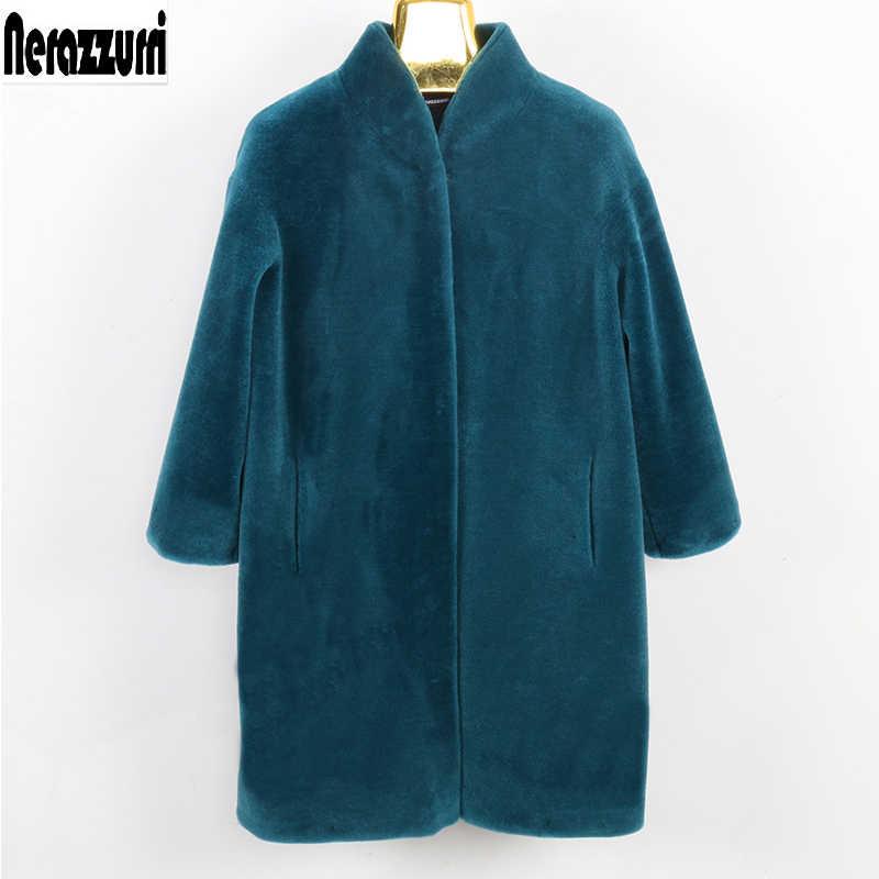 Inter Nyata Bulu Mantel Wanita Medium Ukuran Bulu Domba Domba Bulu Jaket 5xl 6xl 7xl Drop Bahu Hangat Domba Wol bulu Alami