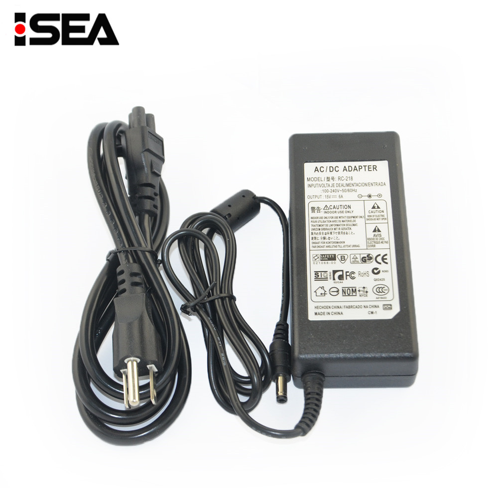 Venta caliente htrc 15 V 6A AC Power Supply adaptador para IMAX B6 80 W B6 V2 RC balance de la batería cargador