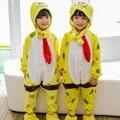 Comercio al por mayor de Dibujos Animados Kigurumis Unicorn Stitch Panda Pijamas de Los Cabritos Encapuchados Niñas niños Pijama Niño Cosplay Onesies Animales ropa de Dormir
