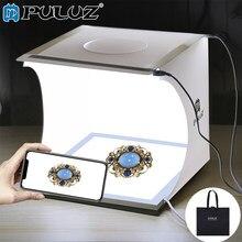 Puluz luz de estúdio fotográfico 20cm, lâmpada sem sombra para painel de luz branca + estúdio de tiro, tenda luz kit caixa de caixa
