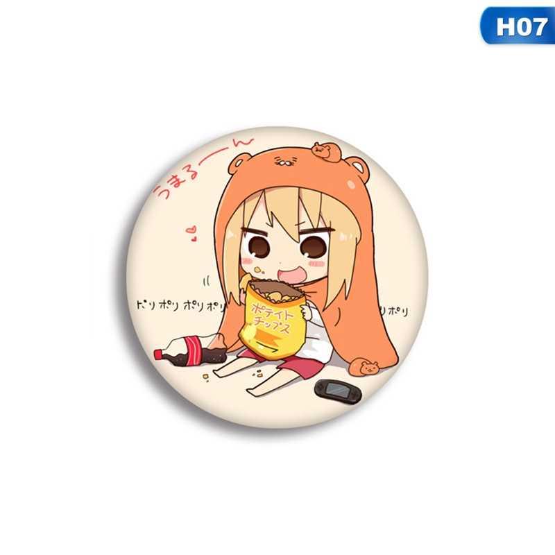5.8 Cm Lucu Kartun Himouto DOMA Umaru Bros Jepang Breastpin Anime Pin Lencana Koin Ikon Kain Ransel Ornamen