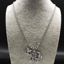 Elephant Necklace Silver