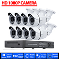 8CH CCTV System 1080P DVR 8PCS 3000TVL IR Weatherproof Outdoor Video Surveillance Home Security Camera System 8CH DVR Kit