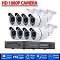 Sistema de CCTV 8CH 1080 P DVR 8 UNIDS 3000TVL IR Resistente A la Intemperie Al Aire Libre Sistema de Video Vigilancia de la Seguridad Casera 8CH DVR Kit