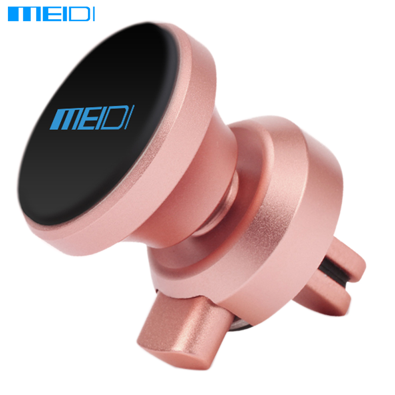 все цены на  MEIDI Car Phone stand Magnetic Air Vent Mount Stand 360 Rotation Mobile metal Phone Holder Soporte Movil Car for iPhone7 Samsung  онлайн